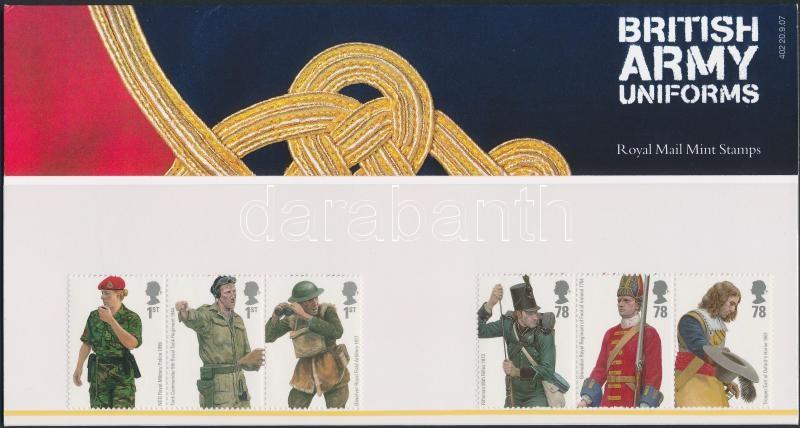 Military Uniforms 2 stripes of 3 in holder, Katonai egyenruhák 2 db hármascsík díszcsomagolásban