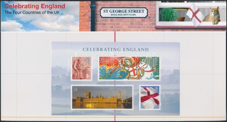 England National Day block in decorative package, Anglia Nemzeti ünnep blokk díszcsomagolásban