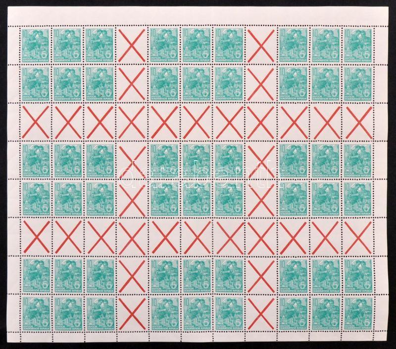 Definitive stamp, 5-year-plan complete stamp-booklet sheet, Forgalmi bélyeg, Ötéves terv teljes bélyegfüzetlap ív