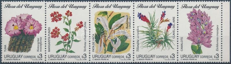 Indigenous flowers set stripe of 5, Őshonos virágok sor 5-ös csíkban