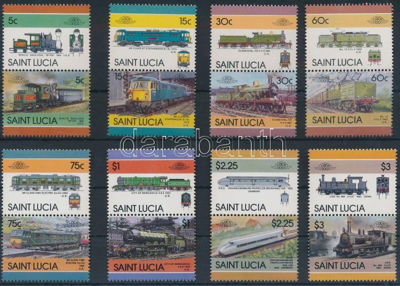 Locomotives (V) set 8 pairs, Mozdonyok (V) sor 8 párban