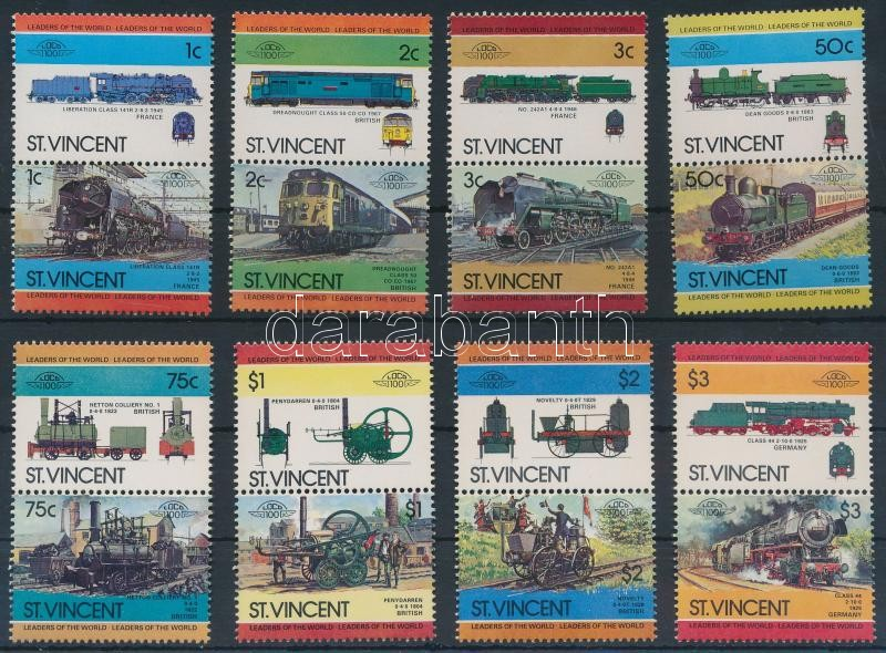 Locomotives (II) set 8 pairs Mozdony (II) sor 8 párban