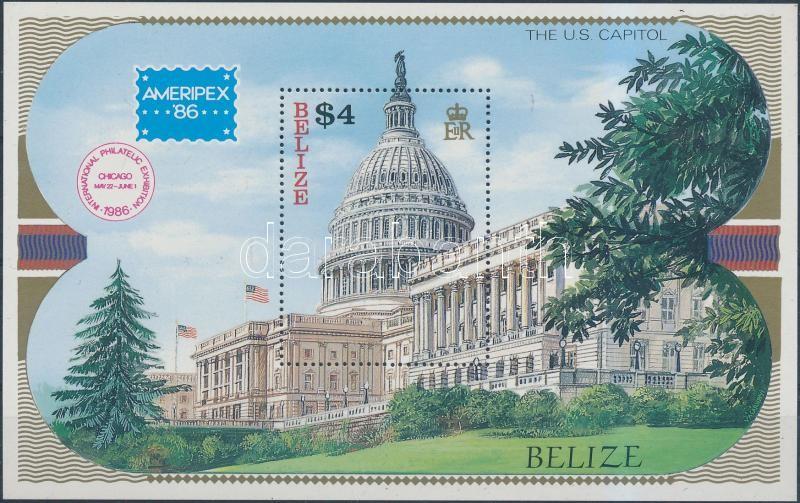 International Stamp Exhibition AMERIPEX block, Nemzetközi bélyegkiállítás AMERIPEX blokk