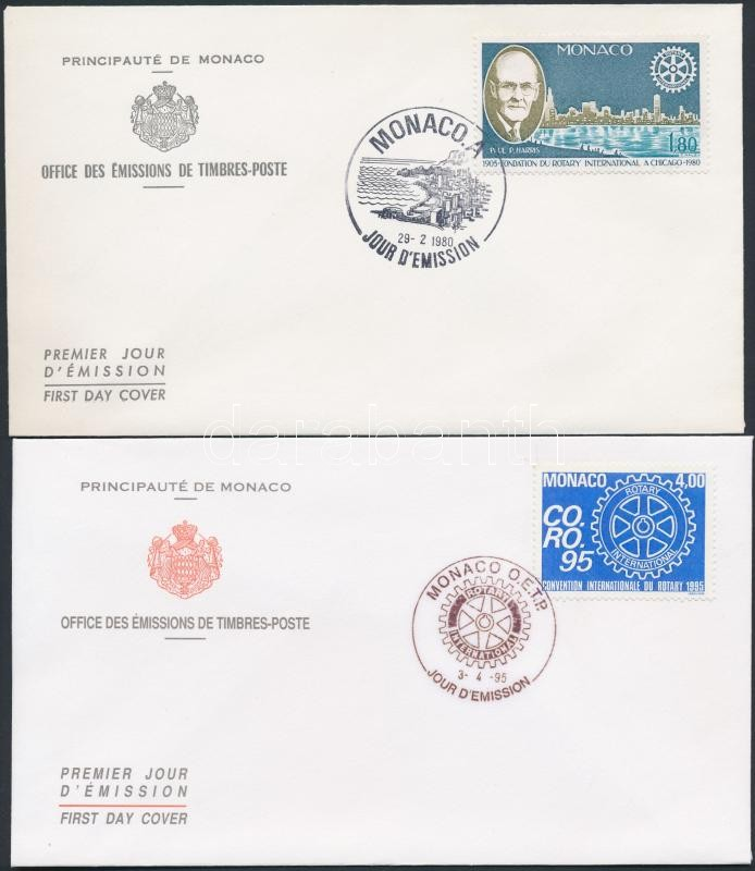 1955-1995 Rotary  4FDC 1955-1995 Rotary motívum 4 db FDC