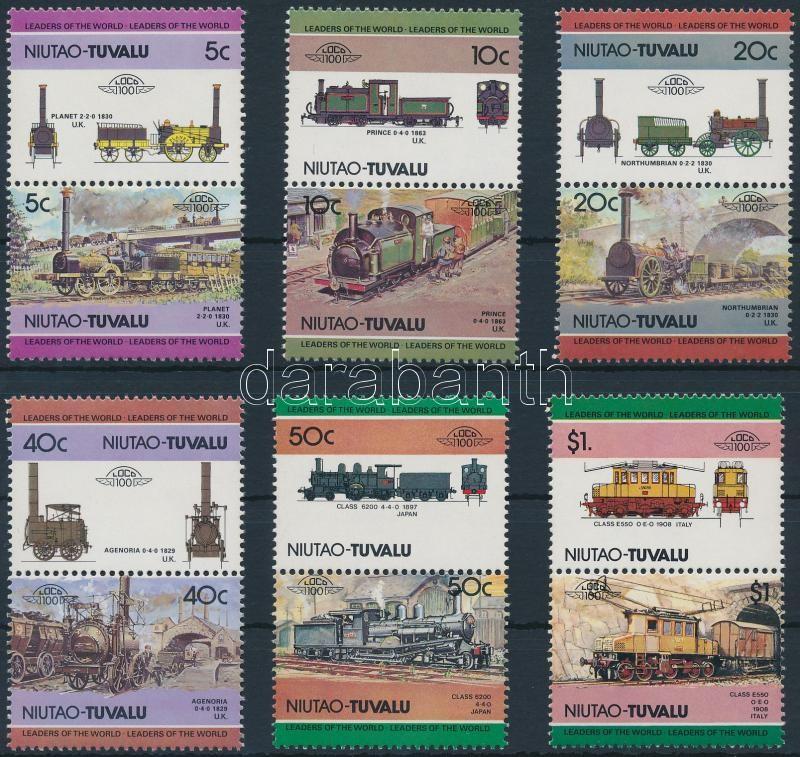Locomotives (I) set 6 pairs, Mozdony (I) sor 6 párban