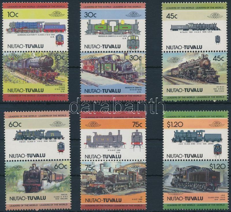 Locomotives (II) set 6 pairs, Mozdony (II) sor 6 párban