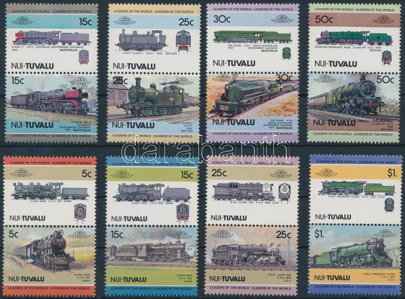 Locomotives (I-II) 2 set 4-4 pairs, 1984-1985 Mozdony (I-II) 2 sor 4-4 párban