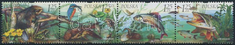 Fauna and flora stripe of 4, Állatok és növények négyescsík