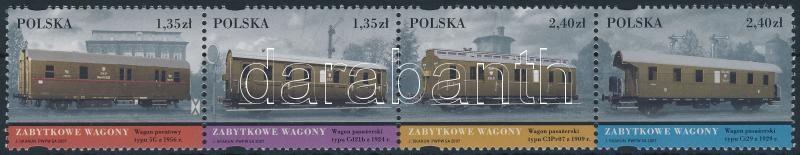 Railway Museum set stripe of 4, Vasútmúzeum sor négyescsík