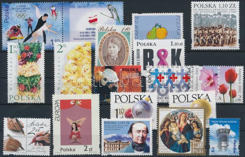 17 stamps, 17 db bélyeg közte sorokkal