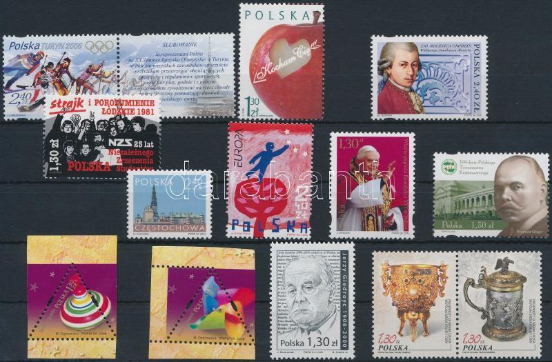 13 stamps, 13 db bélyeg közte sorokkal