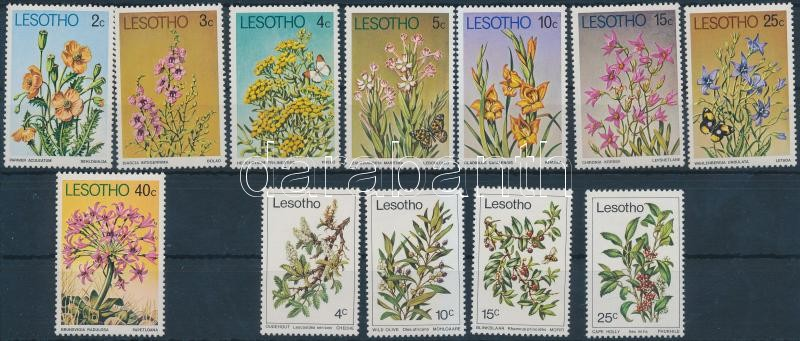 1977-1979 Növények 2 klf sor, 1977-1979 Plants 2 sets