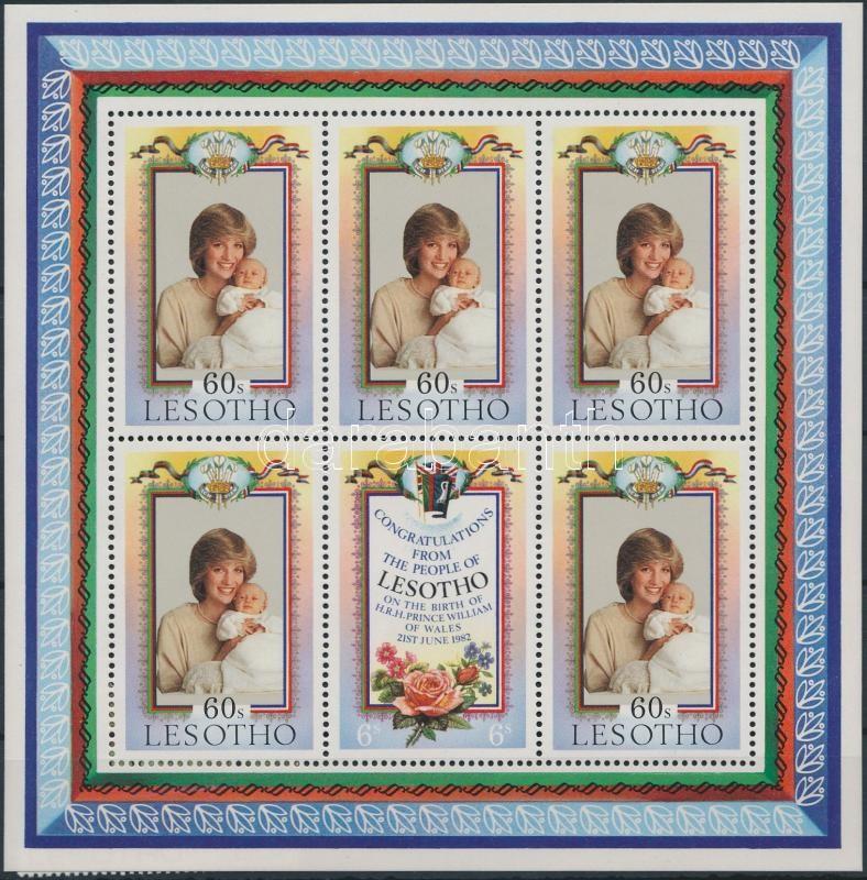 Vilmos herceg születése kisív, Prince William's birth mini sheet