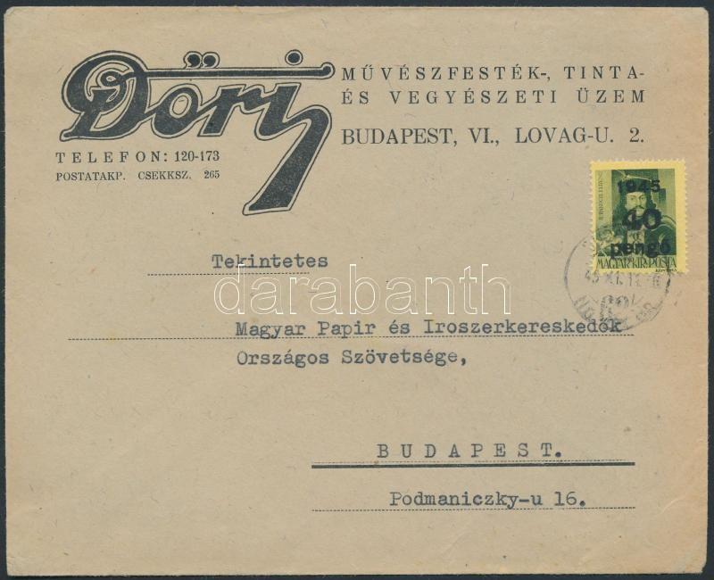 Inflation cover, (4. díjszabás) Helyi céges levél Kisegítő 40P/8f bérmentesítéssel