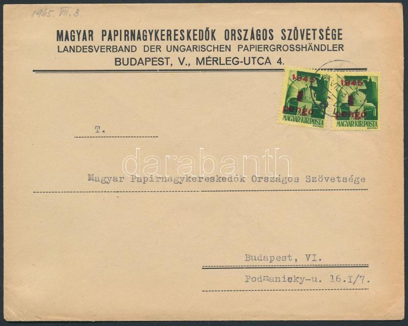 Inflation cover, (2. díjszabás) Helyi céges levél Kisegítő 2x1P/1P bérmentesítéssel
