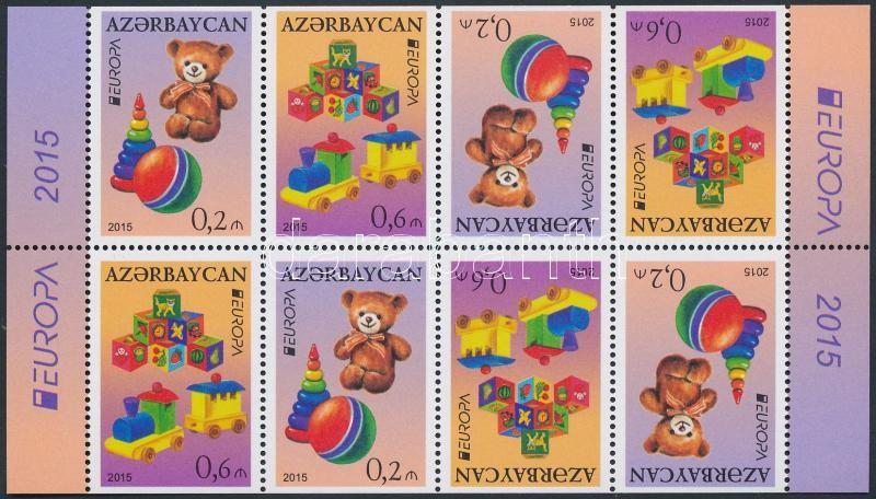 Europa CEPT, old toys stamp booklet, Europa CEPT, régi játékok bélyegfüzet