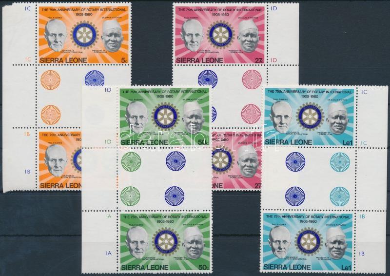 Rotary set sheet-centered pairs, Rotary sor ívközéprészes párokban