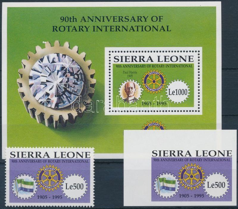 Rotary perforated and imperforated stamp + block, Rotary fogazott és vágott bélyeg + blokk