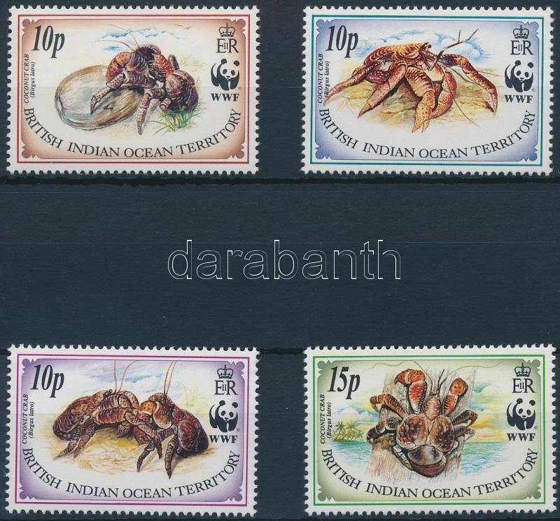 WWF Coconut Crab set + 4 FDC, WWF: Pálmatolvaj sor + 4 db FDC