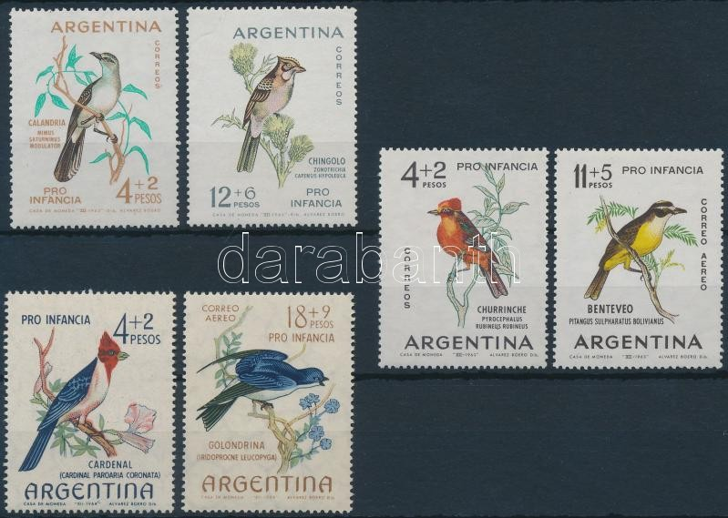1962-1964 Children's Aid (III-V): Bird 3 sets, 1962-1964 Gyermeksegély (III-V): Madár 3 klf sor
