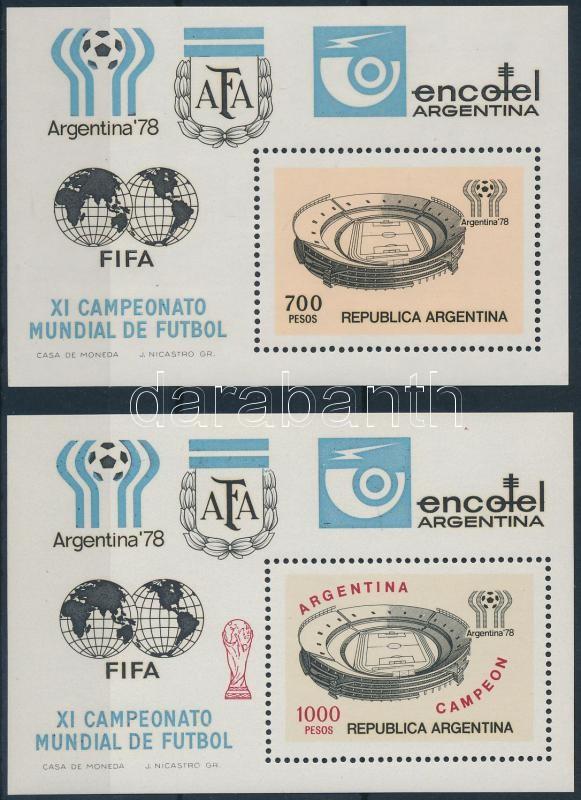 Football World Cup (VI) block and overprinted version, Labdarúgó VB (VI) blokk és felülnyomott változata