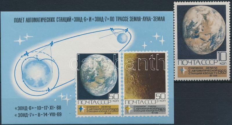 1969-1971 Space Research 17 stamps + 2 blocks, 1969-1971 Űrkutatás 17 bélyeg közte sorokkal + 2 blokk