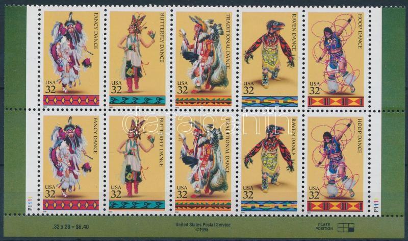 Indián táncok ívsarki 10-es tömb, Indian dance corner block of 10