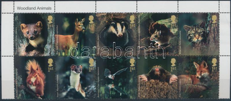 Wild animals corner block of 10, Vadonélő állatok ívsarki 10-es tömb