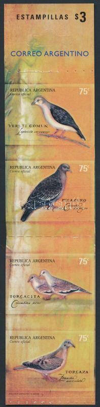 Birds stamp-booklet, Madarak bélyegfüzet