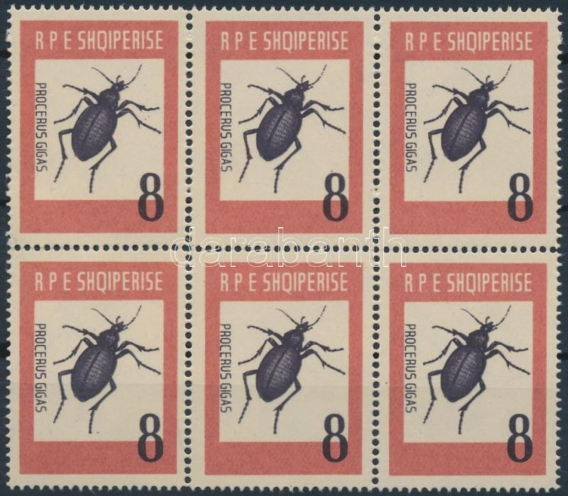 Insect block of 6, Rovar hatostömb