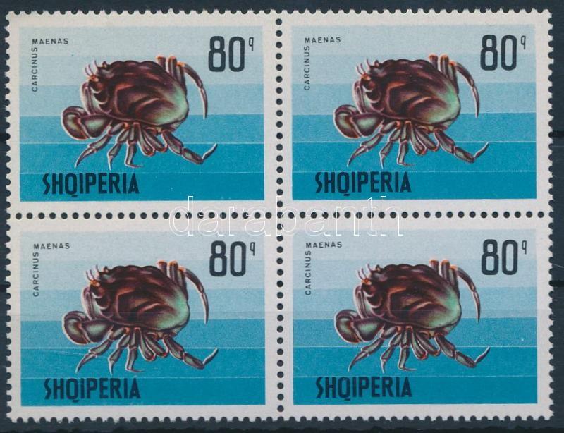 Marine life block of 4, Tengeri élővilág négyestömb