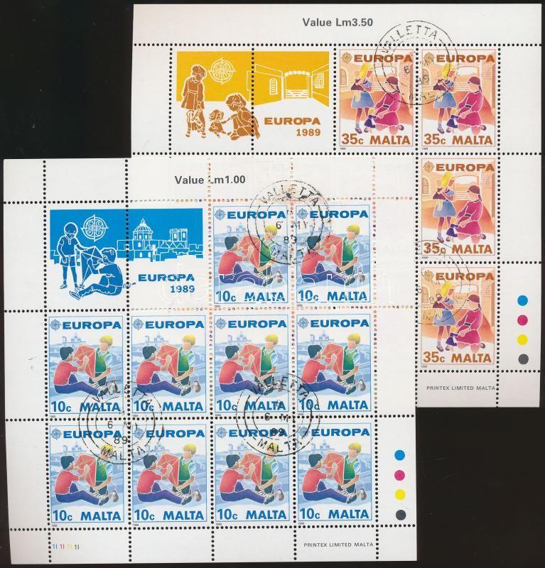Europa CEPT Children's Games minisheet set, Europa CEPT Gyermekjátékok kisívsor
