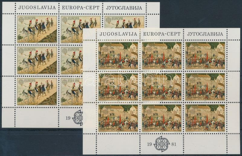 Europa CEPT Folklore mini sheet set, Europa CEPT Folklór kisívsor