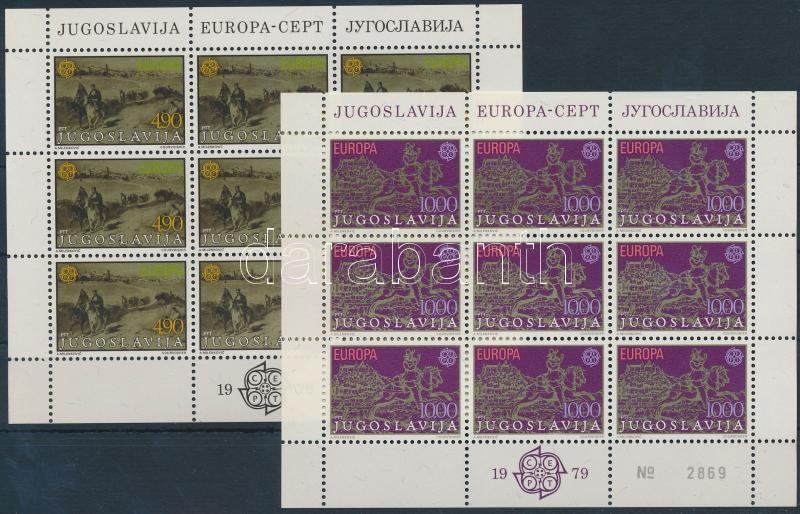 Europa CEPT Postai- and telecommunications history minisheet set, Europa CEPT Posta- és távközlés történelme kisívsor