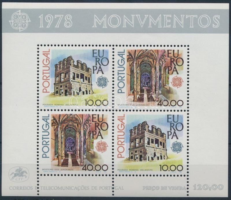 Europa CEPT architectural monuments block, Europa CEPT  Építészeti emlékek blokk