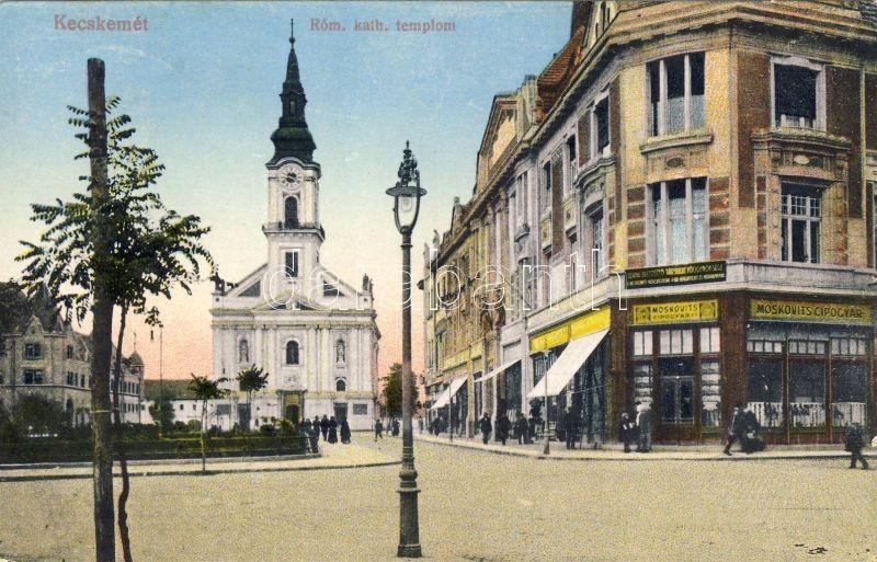 Kecskemét, Római katolikus templom, Moskovits cipőgyár, Biztosító