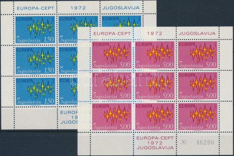 Europa CEPT minisheet set, Europa CEPT kisív sor