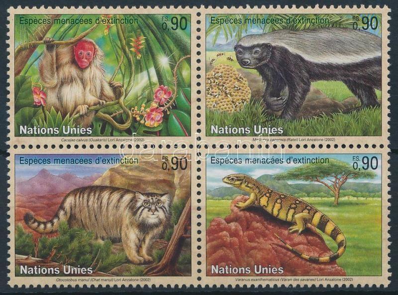 Endangered animals block of 4, Veszélyeztetett állatok négyestömb