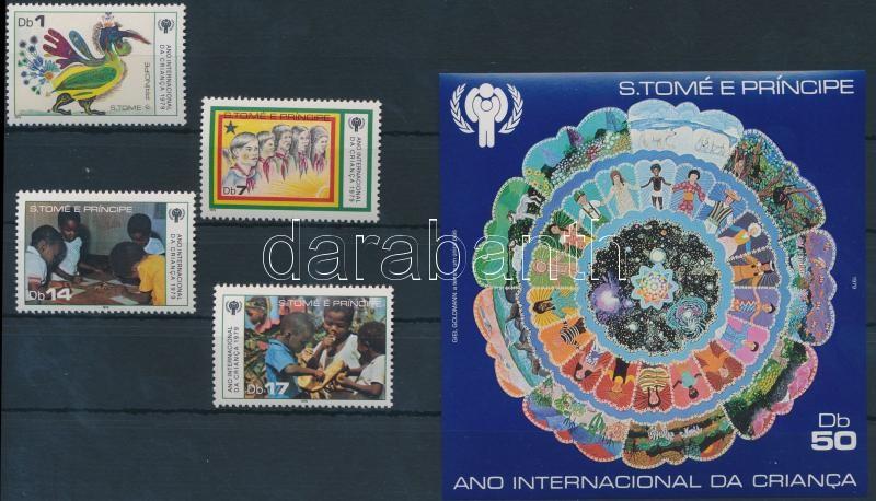 nternational children's year set + block, Nemzetközi gyermekév sor + blokk