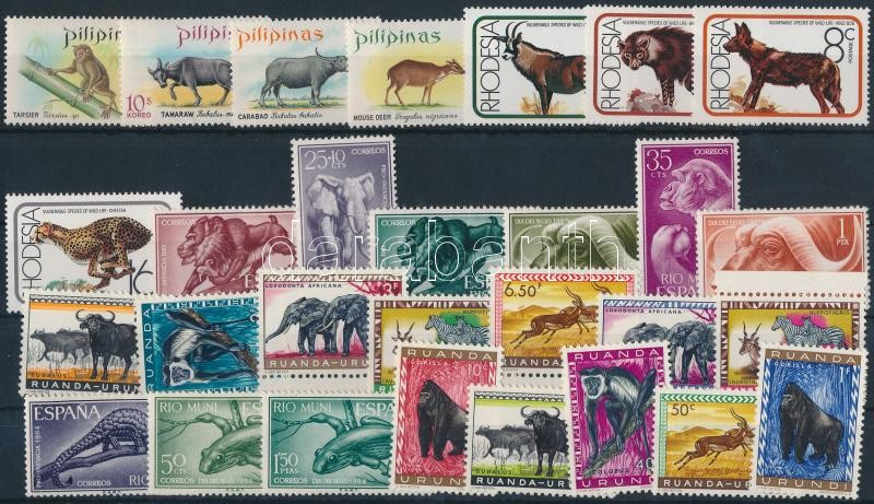 Animals 1959-1976 5 diff sets, Állat motívum 1959-1976 5 klf sor