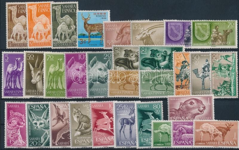 Animals 1951-1966 7 diff sets + 8 diff stamps, Állat motívum 1951-1966 7 klf sor + 8 klf önálló érték