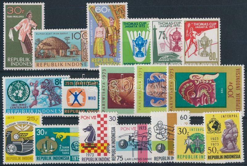 1972-1973 6 sets + 2 individual values, 1972-1973 6 klf sor + 2 klf önálló érték