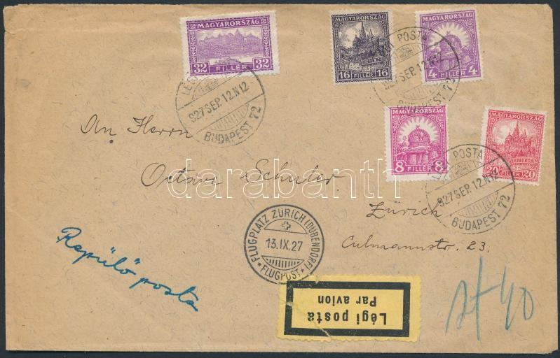 ;Levél / Postázott;Légiposta, Légi levél Svájcba