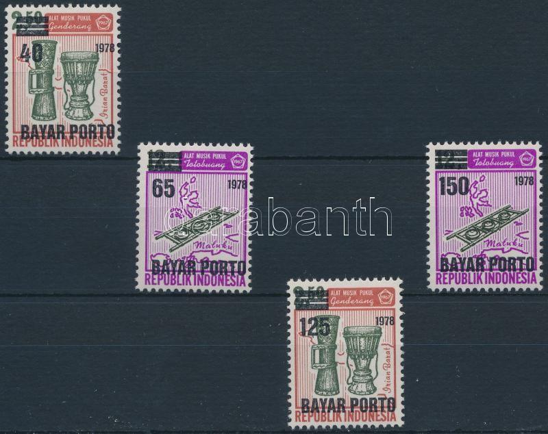 Portó sor 4 értéke, Postage due set 4 values