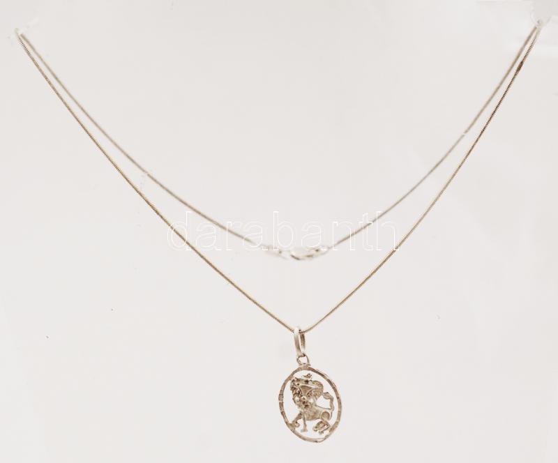 868d7aa121 Ezüst nyaklánc medállal, Ag., nettó: 4,1gr., jelzett, 38cm/ Silver nec.