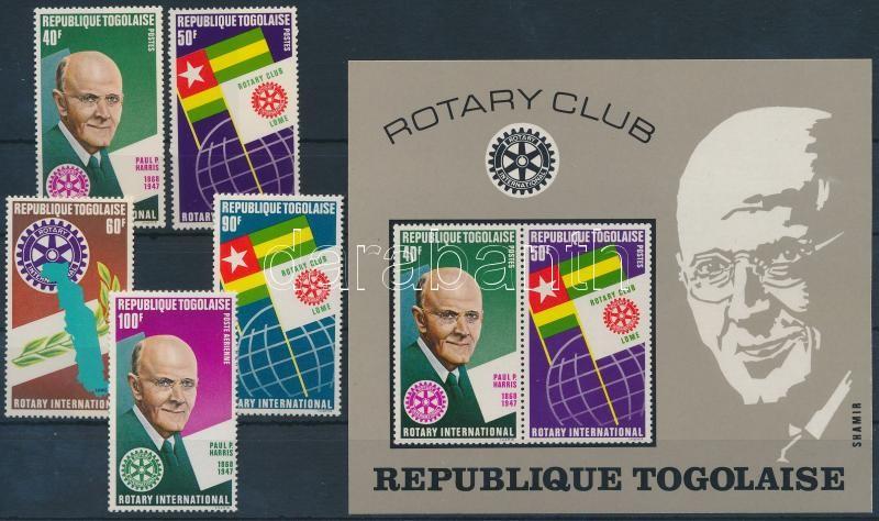Rotary set + imperf block, Rotary sor + vágott blokk