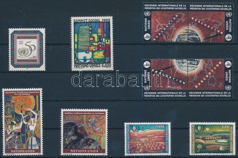 1994-1995 10 diff stamps with sets + 1 full sheet, 1994-1995 10 klf bélyeg közte sorok + 1 db teljes ív