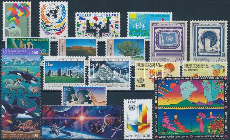 1991-1992 19 diff stamps with sets + 1 block of 4, 1991-1992 19 klf bélyeg közte sorok és párok + 1 db négyestömb