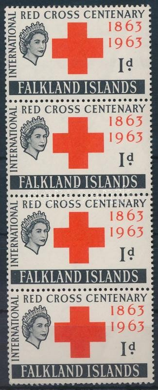 International Red Cross Centenary stripe of 4, Nemzetközi Vöröskereszt Centenárium négyescsík