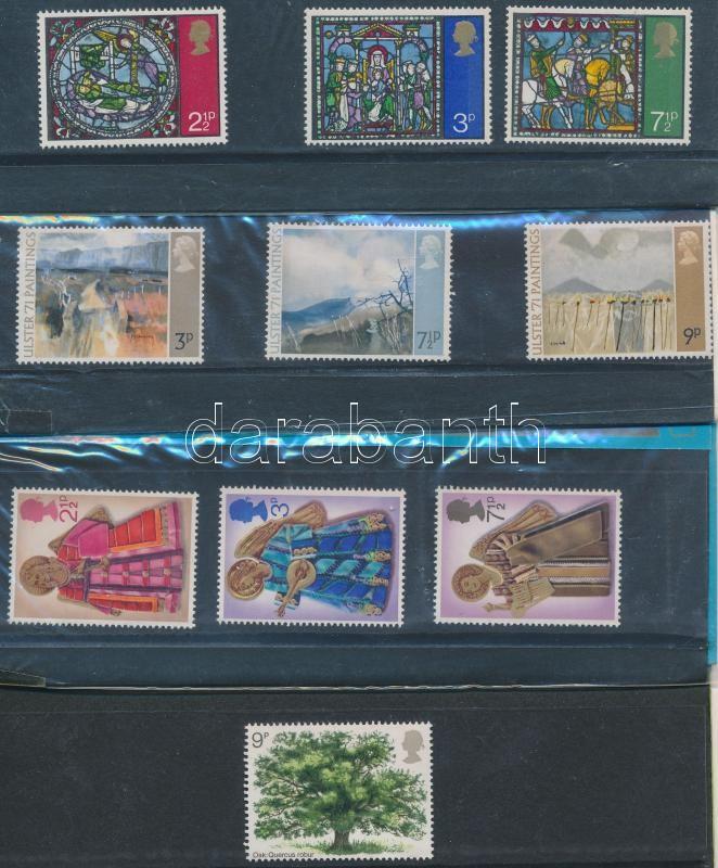 1971-1973 9 sets in decorative holder, 1971-1973 9 klf sor díszcsomagolásban